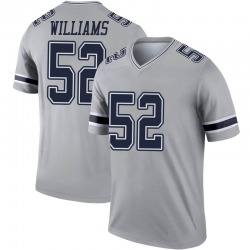 Legend Youth Connor Williams Dallas Cowboys Nike Inverted Jersey - Gray