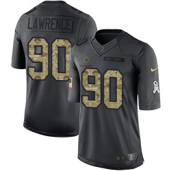 Limited Men's Demarcus Lawrence Dallas Cowboys Nike 2016 Salute to Service Jersey - Black