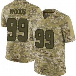 Limited Youth Antwaun Woods Dallas Cowboys Nike 2018 Salute to Service Jersey - Camo